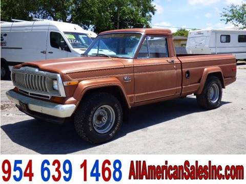 1981 Jeep J-10 Pickup for sale in Hollywood, FL