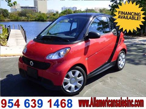 2013 Smart fortwo for sale in Hollywood, FL