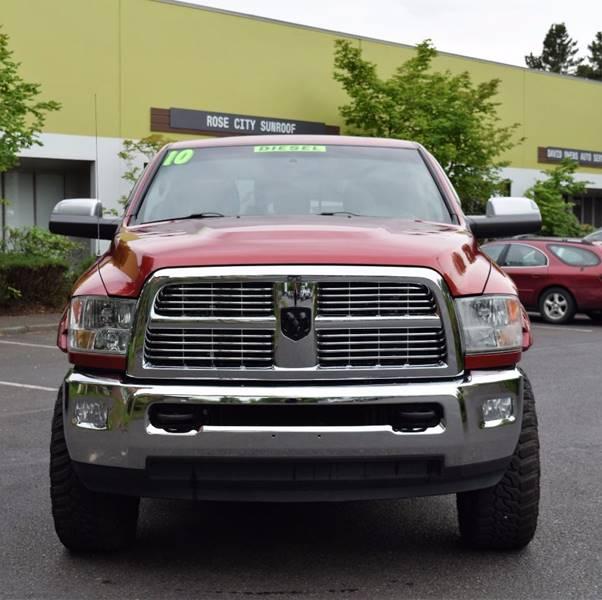 2010 Dodge Ram Pickup 3500 4x4 Laramie 4dr Mega Cab 6.3 Ft