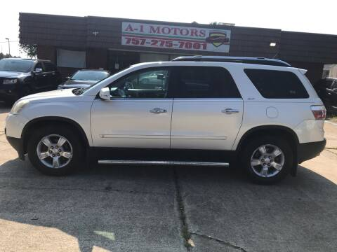 2009 GMC Acadia for sale at A-1 Motors in Virginia Beach VA