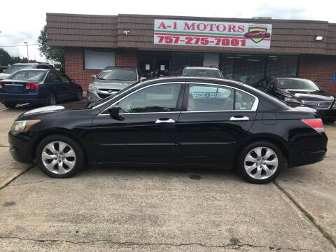 2009 Honda Accord for sale at A-1 Motors in Virginia Beach VA