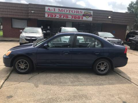 2003 Honda Civic for sale at A-1 Motors in Virginia Beach VA