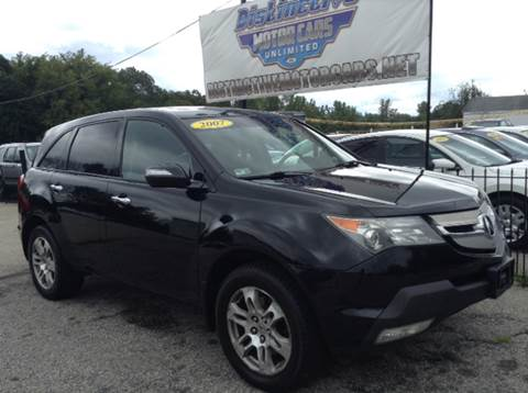 2007 Acura MDX for sale at DISTINCTIVE MOTOR CARS UNLIMITED in Johnston RI