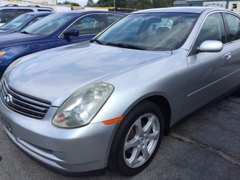 2004 Infiniti G35 for sale at DISTINCTIVE MOTOR CARS UNLIMITED in Johnston RI