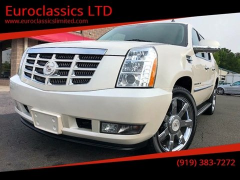 2012 Cadillac Escalade EXT for sale at Euroclassics LTD in Durham NC