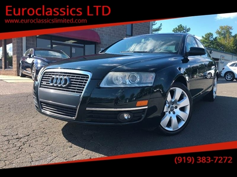 2006 Audi A6 for sale at Euroclassics LTD in Durham NC