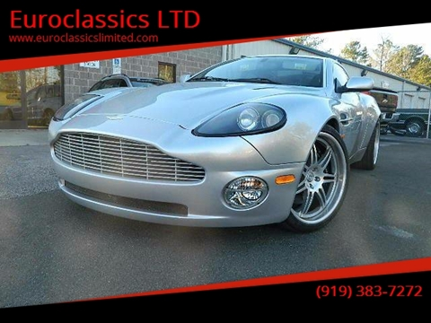 2004 Aston Martin V12 Vanquish for sale at Euroclassics LTD in Durham NC