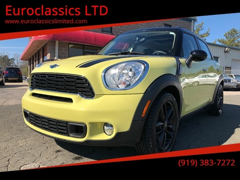2012 MINI Cooper Countryman for sale at Euroclassics LTD in Durham NC
