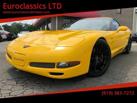 2003 Chevrolet Corvette for sale at Euroclassics LTD in Durham NC