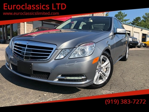2011 Mercedes-Benz E-Class for sale at Euroclassics LTD in Durham NC