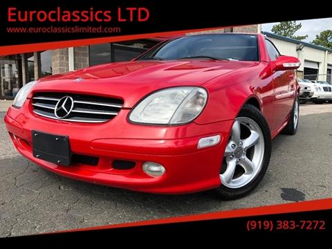 2002 Mercedes-Benz SLK for sale at Euroclassics LTD in Durham NC