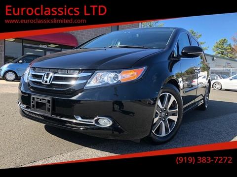 2015 Honda Odyssey for sale at Euroclassics LTD in Durham NC