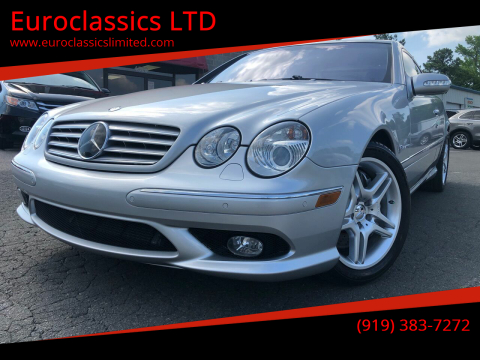 2003 Mercedes-Benz CL-Class for sale at Euroclassics LTD in Durham NC