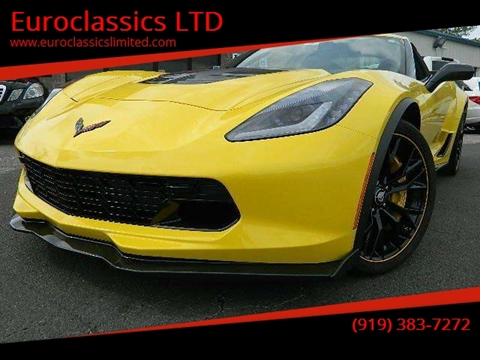 2016 Chevrolet Corvette for sale at Euroclassics LTD in Durham NC