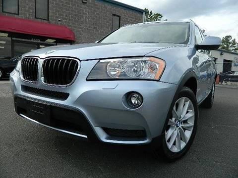 2013 BMW X3 for sale at Euroclassics LTD in Durham NC
