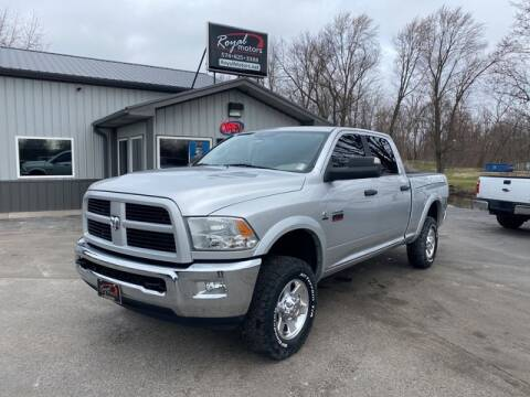 2012 RAM Ram Pickup 2500 Outdoorsman for sale at ROYAL MOTORS in Middlebury IN