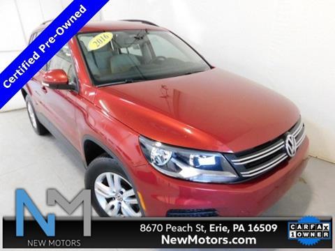 New Motors Erie Pa >> 2016 Volkswagen Tiguan For Sale In Erie Pa
