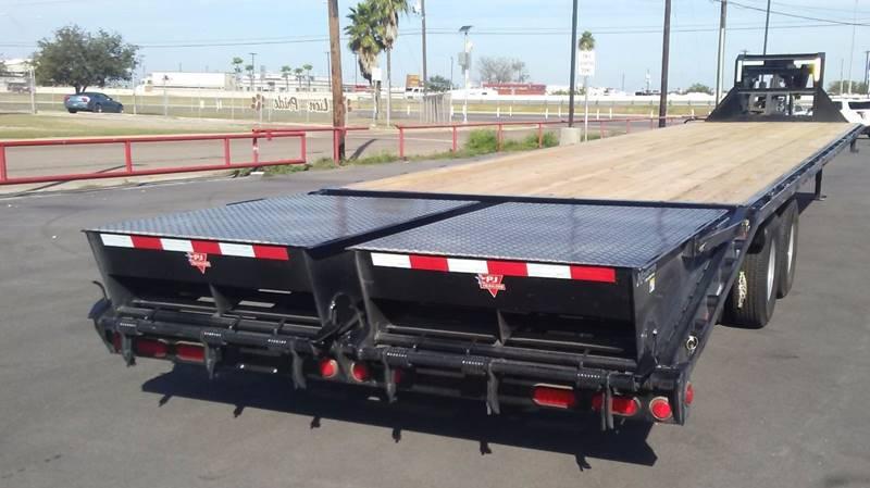 2019 Pj 40' Flatbed Gooseneck Trailer In La Feria TX - Mid