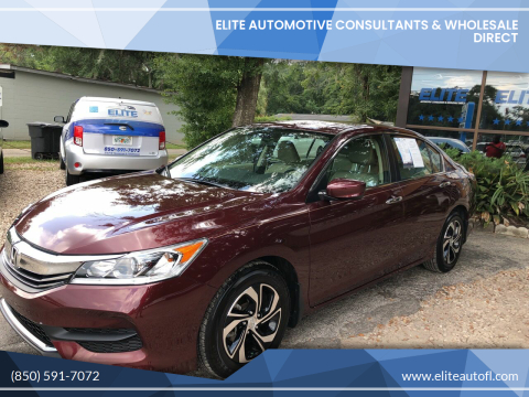 2017 Honda Accord for sale at Elite Automotive Consultants & Wholesale Direct in Tallahassee FL