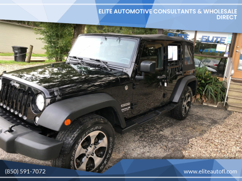 2015 Jeep Wrangler Unlimited for sale at Elite Automotive Consultants & Wholesale Direct in Tallahassee FL