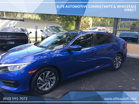2016 Honda Civic for sale at Elite Automotive Consultants & Wholesale Direct in Tallahassee FL