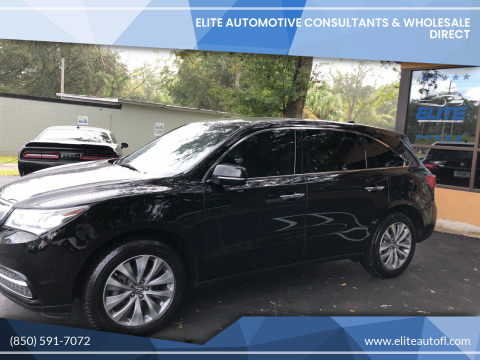 2016 Acura MDX for sale at Elite Automotive Consultants & Wholesale Direct in Tallahassee FL