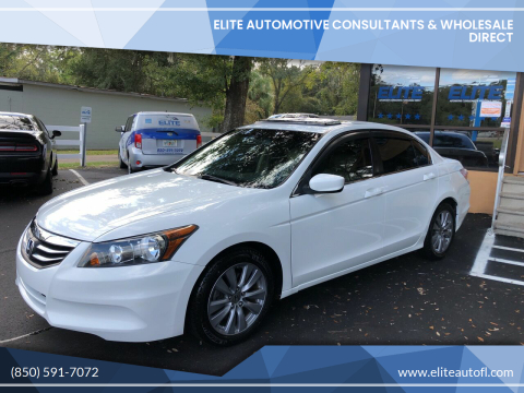 2012 Honda Accord for sale at Elite Automotive Consultants & Wholesale Direct in Tallahassee FL