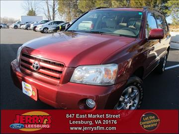 2005 Toyota Highlander for sale in Leesburg, VA