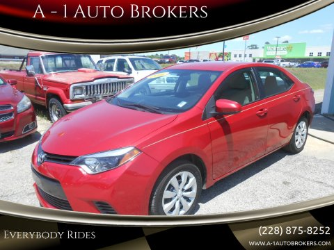 2016 Toyota Corolla for sale at A - 1 Auto Brokers in Ocean Springs MS