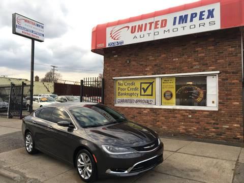 2015 Chrysler 200 for sale in Detroit, MI