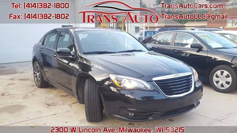 2012 Chrysler 200 for sale at Trans Auto in Milwaukee WI