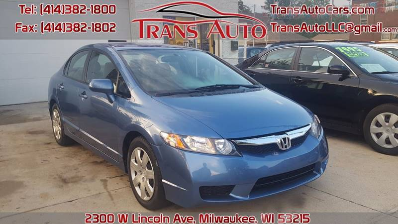 Great 2010 Honda Civic For Sale At Trans Auto In Milwaukee WI
