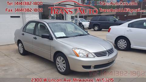 2007 Mitsubishi Lancer for sale at Trans Auto in Milwaukee WI