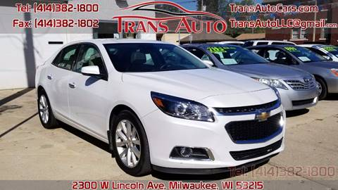 2015 Chevrolet Malibu for sale at Trans Auto in Milwaukee WI
