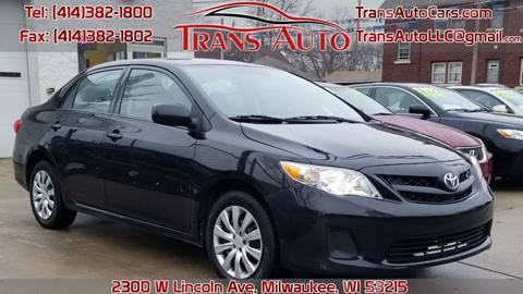 2012 Toyota Corolla for sale at Trans Auto in Milwaukee WI