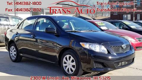 2010 Toyota Corolla for sale at Trans Auto in Milwaukee WI