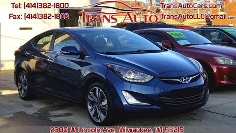 2014 Hyundai Elantra for sale at Trans Auto in Milwaukee WI