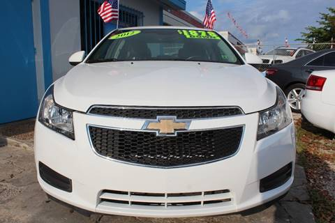 2012 Chevrolet Cruze for sale at IRON CARS in Hollywood FL