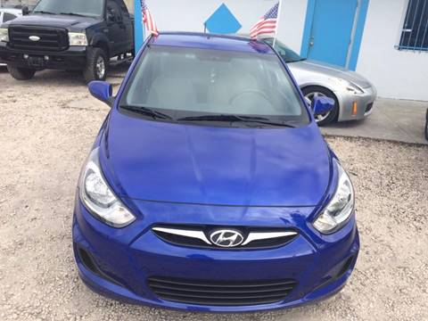 2013 Hyundai Accent for sale at IRON CARS in Hollywood FL