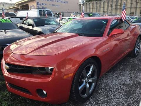 2012 Chevrolet Camaro for sale at IRON CARS in Hollywood FL