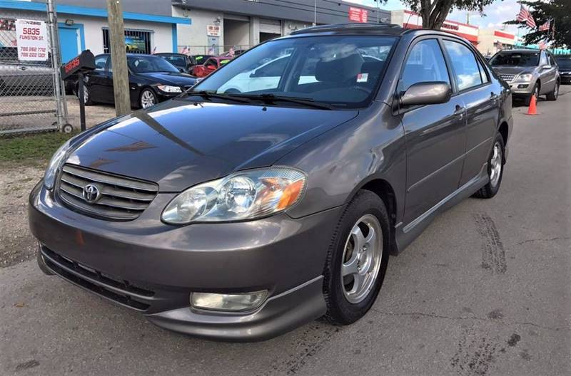 2003 Toyota Corolla S 4dr Sedan   Hollywood FL