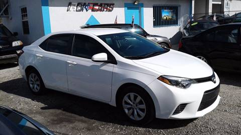 2015 Toyota Corolla for sale at IRON CARS in Hollywood FL