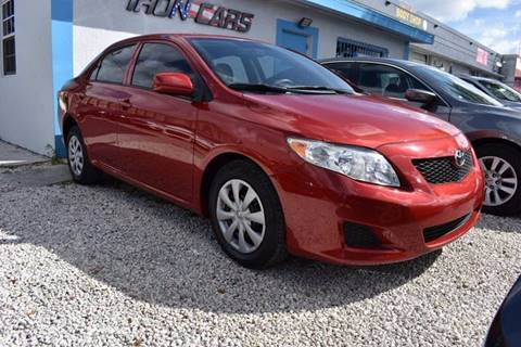 2010 Toyota Corolla for sale at IRON CARS in Hollywood FL