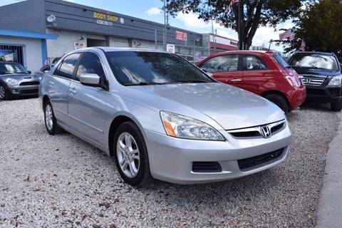 2006 Honda Accord for sale at IRON CARS in Hollywood FL
