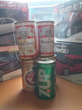 -1 Vintage Oil and Soda Cans