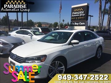 2014 Volkswagen Passat for sale in San Juan Capistrano, CA