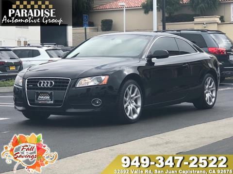 2012 Audi A5 for sale in San Juan Capistrano, CA