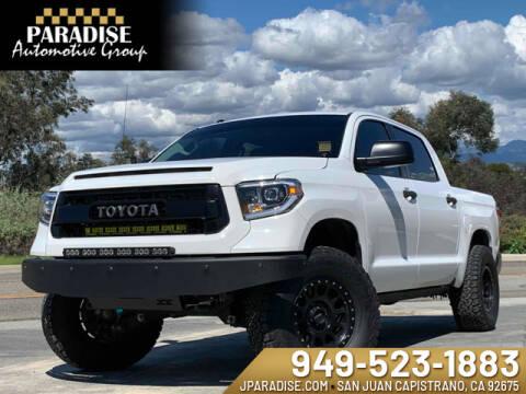 2017 Toyota Tundra SR5 for sale at Paradise Automotive Group Inc in San Juan Capistrano CA