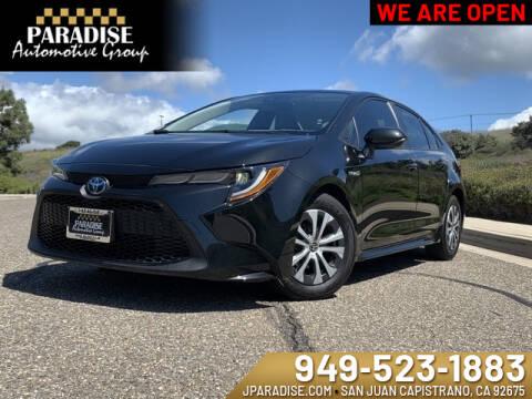 2020 Toyota Corolla Hybrid LE for sale at Paradise Automotive Group Inc in San Juan Capistrano CA