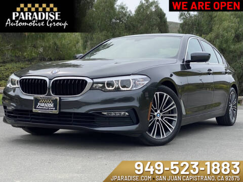 2017 BMW 5 Series 530i for sale at Paradise Automotive Group Inc in San Juan Capistrano CA